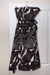 Coast black and white prom dress size 12 perfect condition