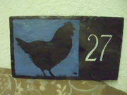hand painted house or garden signs